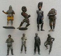 BUNDLE OF VINTAGE LEAD TOY SOLDIERS - RAF, GERMANS, SAXON, FRENCH - CIRCA 7cm