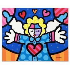 VALTER DE MORAIS ORIGINAL ACRYLIC PAINTING Signed ANGEL ROMERO BRITTO style