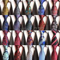 Trendy Art Mens Tie Gorgeous Paisley Floral Plaid Striped Jacquard Woven Necktie