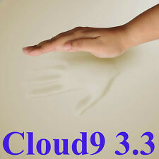 "CLOUD9 3.3 FULL 2"" MEMORY FOAM BED PAD W/EXPANDABLE COVER + PILLOW"
