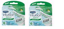 genuine Schick Intuition Naturals Razor Blade Refills  6  Cartridges