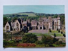 Melrose colour Postcard c1970s Abbotsford House home of Sir Walter Scott