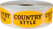 Country Style Grocery Market Stickers, 0.75 x 1.375 Inches, 500 Labels on a Roll