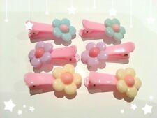 6x (3 Pairs) Bulk Girls Flower Hair Clip Baby/Kids/Toddler Flower