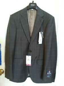 Marks and Spencer Alfred Brown Pure New Wool Men's Suit Jacket 36inches New