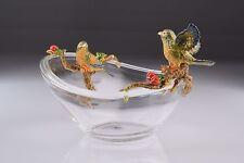 Crystal bowl & birds LIMITED EDITION  Trinket Box by Keren Kopal  W/Crystal