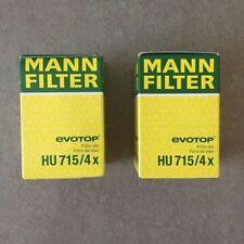Lot of 2 MANN-FILTER HU715/4X Oil Filters