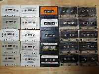LOT: 25 CASSETTE TAPES FOR CRAFTS VINTAGE WALL DECOR DECORATION REPURPOSING DIY