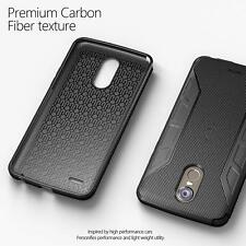 For LG Stylo 3 / Stylo 3 Plus Case Poetic Slim Fit TPU Cover【Karbon Shield】Black