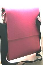 tasche echt leder +filz pink PERFEKT MESSENGER JUL & LENZ muster bag