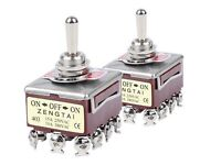 2PCS TEN403 12 Pin Toggle Switch 10A/380VAC 15A/250VAC 3 Position 4PDT ON-OFF-ON
