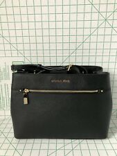NWT Michael Kors Hailee Medium Satchel Saffiano Leather Purse Black