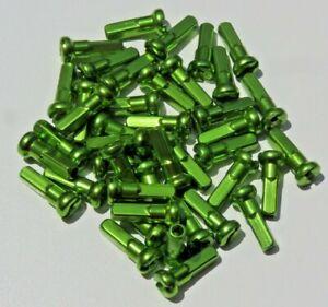 14mm SOUR APPLE GREEN Alloy Aluminum spoke nipple 14g (2.0mm) Custom amounts