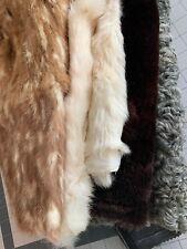 Lot of Large Vintage Fur Curly Lamb Rabbit Sheepskin Skunk Remnants