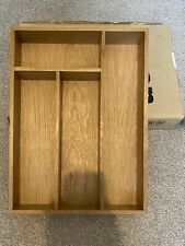 Wren Living Solid Oak Cutlery Tray/Drawer Insert with compartments