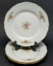 "Lot of 3 Rosenthal Sanssouci Classic Rose 7.75"" Salad China Plates Ivory Gold"