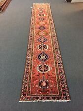 On Sale Beautiful Hand Knotted Vintage Geometric Area Gharajeh Rug 2'10x16'3,507