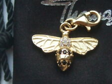 New genuine Thomas Sabo 18ct gold plated silver zirconia bee charm RRP £79
