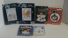 Counted Cross Stitch Kits Winter Scenes, Christmas, Summer Scene, Baby Lot of 6