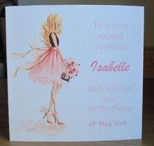 Personalised Handmade Beautiful Daughter 18th 21st 30th 40th Birthday Card