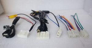 cable Wiring Harness Radio CD USB AUX AV Bluetooth For Toyota RAV4 Corolla Prado
