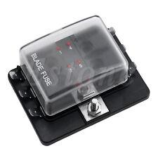 DC32V Mini Car Truck 6 Way ATC/ATO Blade Fuse Box Holder LED Warning Kit New
