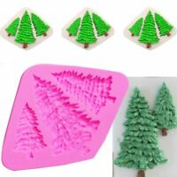 3D Christmas Tree Silicone Mold Fondant Cake Decorating Candy Chocolate T1N4