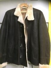 Men's Sheepskin Jacket real leather new dark brown style 820 XXXL (3XL)