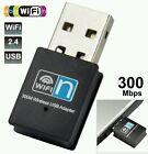 300Mbps Wifi Mini Usb Adapter Wireless Dongle Adaptor 802.11 B G N Lan Network