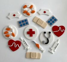DOCTORS AND NURSES CUP CAKE TOPPERS X 12 - APPROX 5CM (GIVE OR TAKE) -  AMAZING!