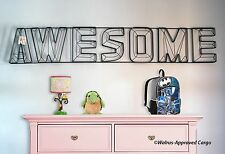 """POTTERY BARN WIRE 3-D """"AWESOME"""" SIGN -NIB- CHEER THE LITTLE ONE ON IN A BIG WAY!"""