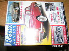 Retro Passion n°98 Jaguar XJ6 Ondine Gordini 1000 Koehler Escoffier Volant bois