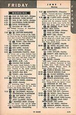 JUNE 1,1962 Tv Ad~SHERYL DECKARD & DAN SUAREZ Join CHUCKO THE BIRTHDAY CLOWN