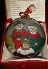 Christmas ornament Hand Blown Treasured Visions, 3 Wise Men, painted from inside