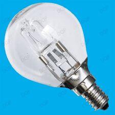 2x 42W (=60W) WATT CLEAR DIMMABLE HALOGEN GOLF ENERGY SAVING LIGHT BULBS SES E14