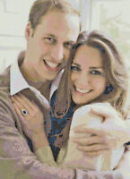 William and Kate - Handmade DIGITAL Counted Cross-Stitch Pattern Chart