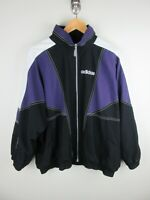 Adidas Mens Bomber Jacket Size XL Soft Shell Vintage 1990s Rare Adult Black