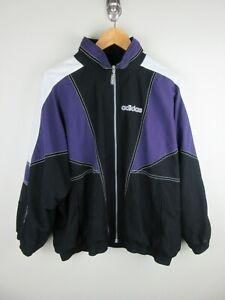 Adidas Mens Bomber Jacket Size XL Soft Shell Vintage 1990s Rare Adult Black
