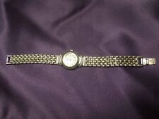 CROTON Sterling Silver Mother of Pearl Panther Link Watch