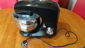 Food Stand Mixer Electric 5.5L 800W 6 Speed 4 Attachments Spatula Andrew James