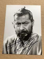 UNIQUE! SIGNED! TOSHIRO MIFUNE 1986, ORIGINAL Photo RARE! Samurai Sword Akahige