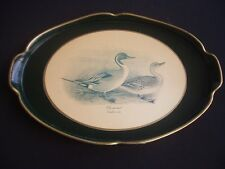 HAND MADE WOODEN SERVING TRAY ~PINTAIL DUCK ~ITALY ~GOOD QUALITY