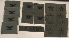 NEW 17 LOT MISC ARMY MILITARY PATCHES OLIVE DRAB/BLACK FREE US SHIPPING