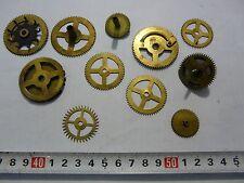 Lot 11 Vintage Brass Clock Gears Wheels Cogs Steampunk Project Altered Art #6