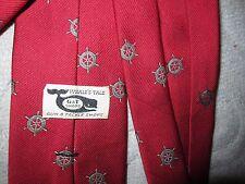 Vintage Whale's Tale Gun & Tackle Shops red ship's wheel silk blend tie, Talbott