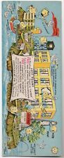 1950s Comical Oversized Souvenir Postcard from Alcatraz by Rossi SF CA
