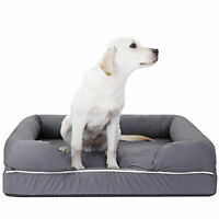 Dog Bed Orthopedic Memory Foam Medium Firmness Pillow Waterproof Liner Safe
