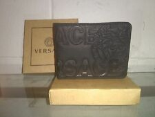 VERSACE MENS MONEY CLIP LEATHER WALLET NEW IN BOX 100% GENUINE