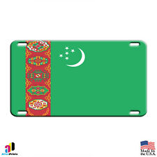 Turkmenistan Country Flag Aluminum Metal Novelty License Plate Tag