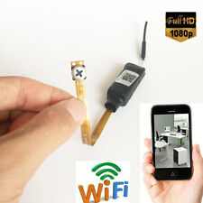 Wireless Spy Nanny Wifi 1080P HD Mini P2P network Tiny screw Lens Camera DV DVR